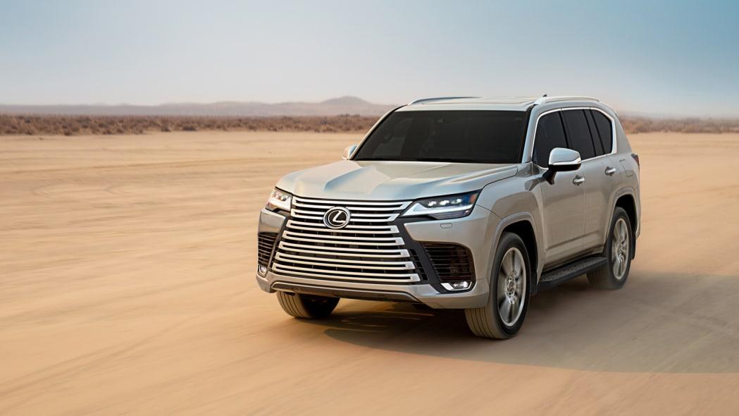 2022 Lexus LX 600 Ultra Luxury action desert front