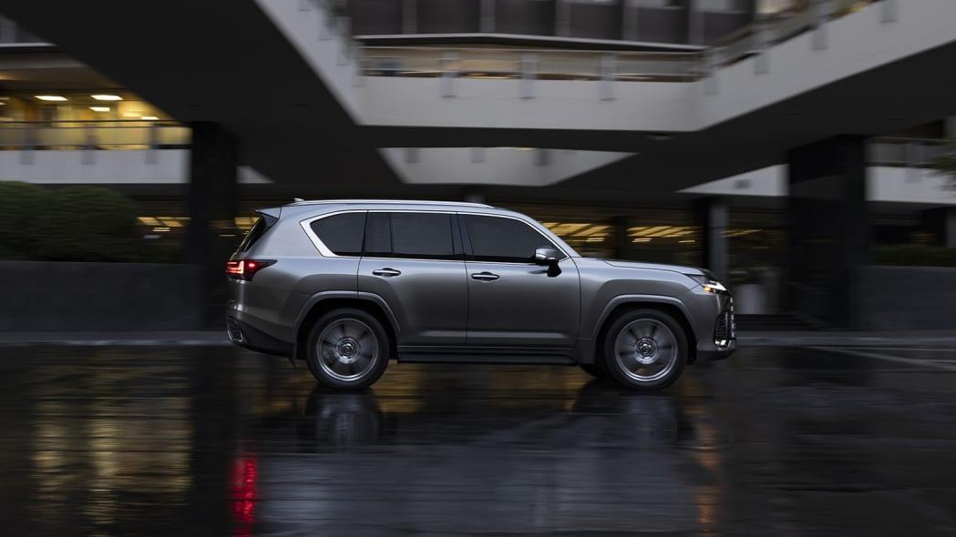 2022 Lexus LX 600 Ultra Luxury action profile city