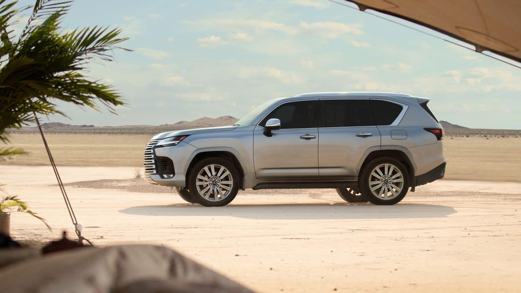 2022 Lexus LX 600 Ultra Luxury next to a desert tent