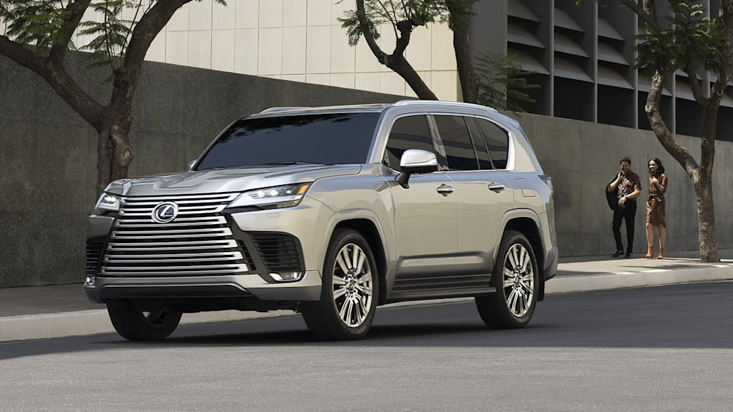 2022 Lexus LX 600 Ultra Luxury with people downtown