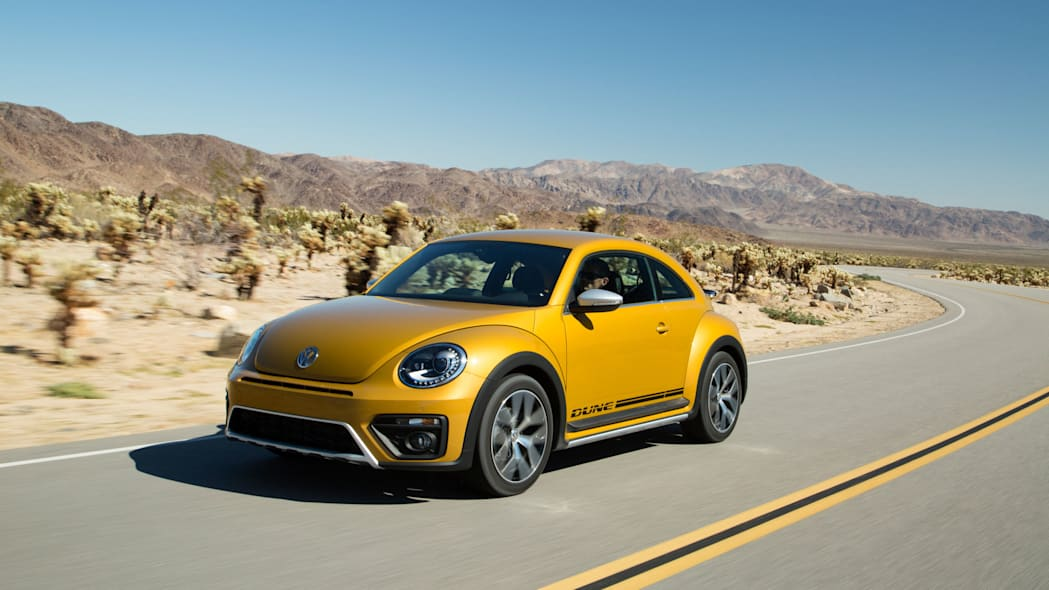 vw beetle dune coupe on the road
