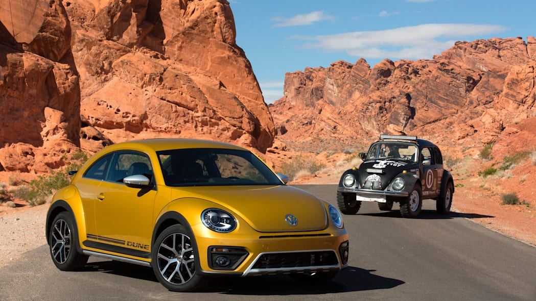 vw beetle dune coupe with baja bug