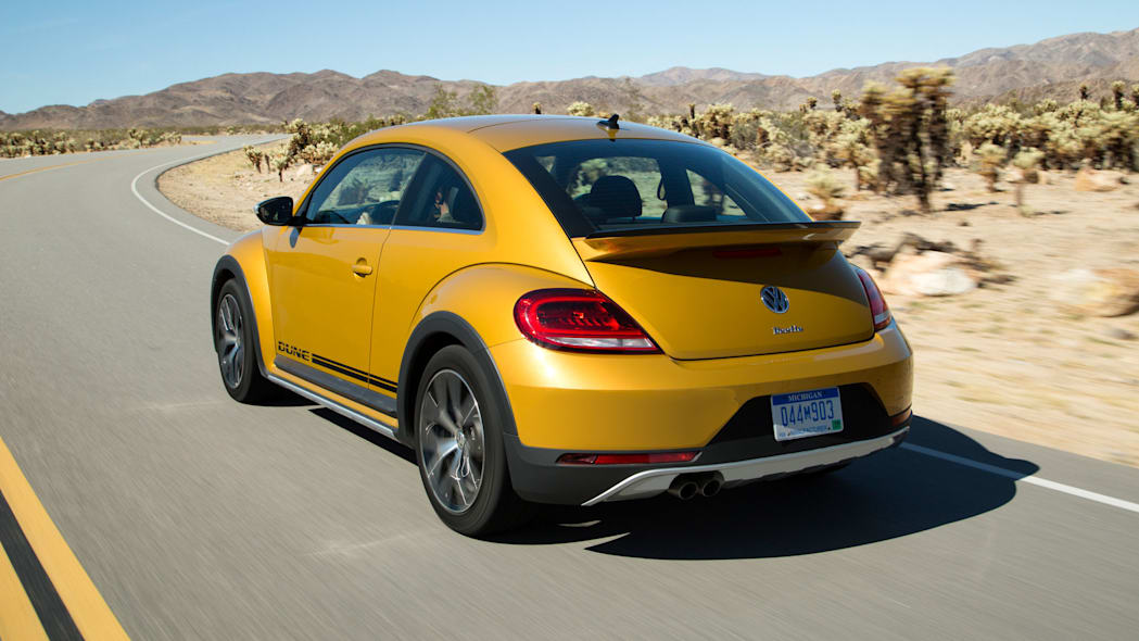 vw beetle dune coupe rear three quarters