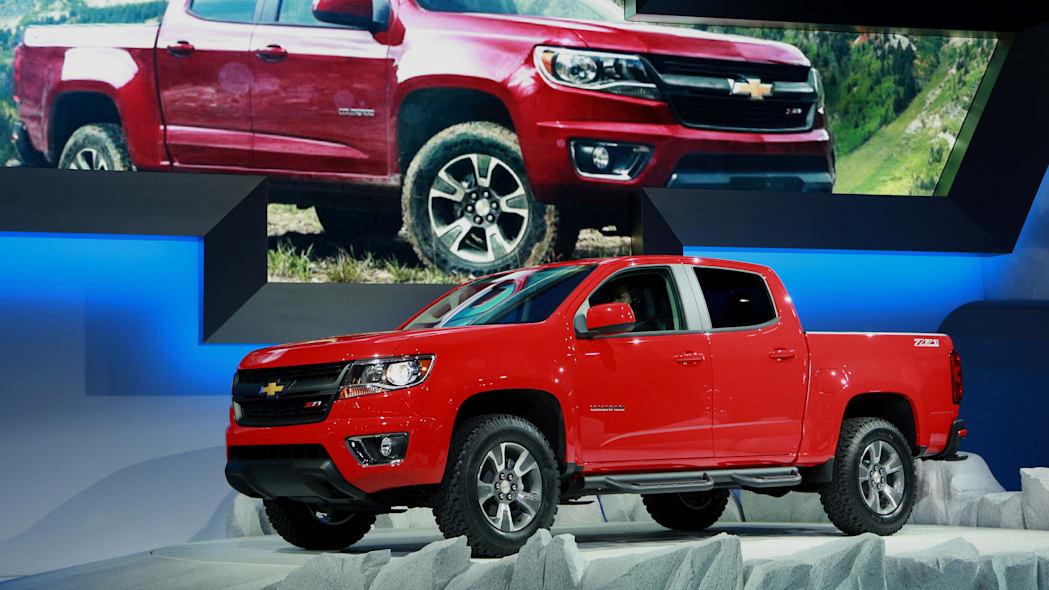 Chevy Colorado pickup truck in red