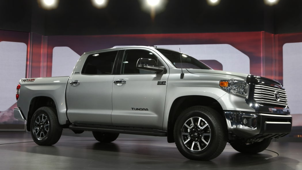 Toyota Tundra pickup truck in silver