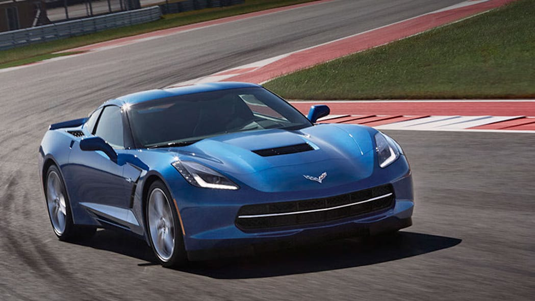 Chevy Corvette coupe in blue