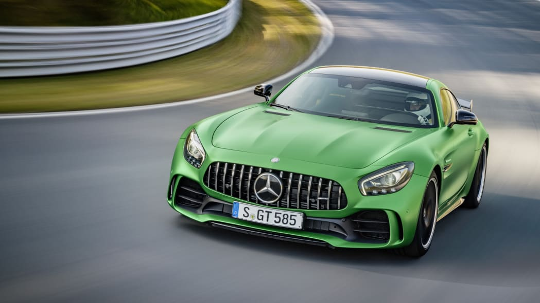 2018 Mercedes-AMG GT R front on track