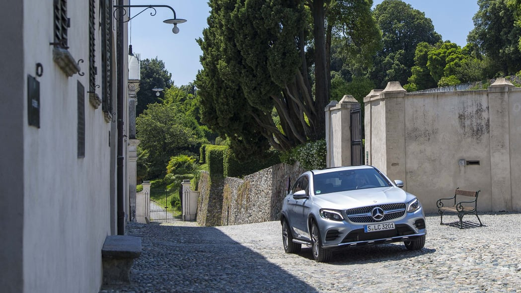 2017 Mercedes-Benz GLC300 Coupe front 3/4 view