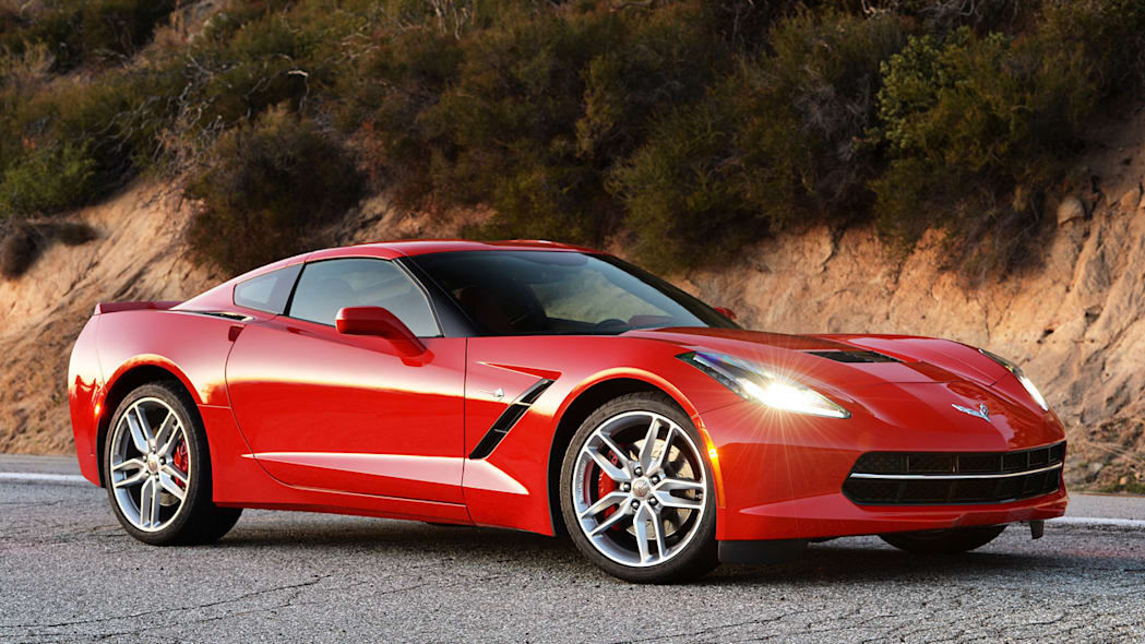 Chevy Corvette coupe in red