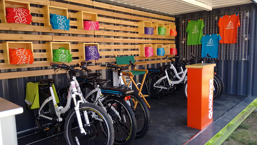 Quikbike Qiosk Bike Sharing in a Shipping Container