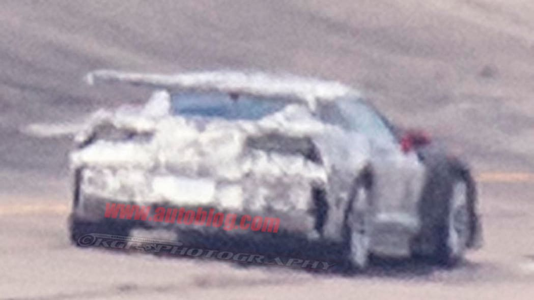 Chevrolet Corvette ZR1 Wing Spy Shots Rear Exterior