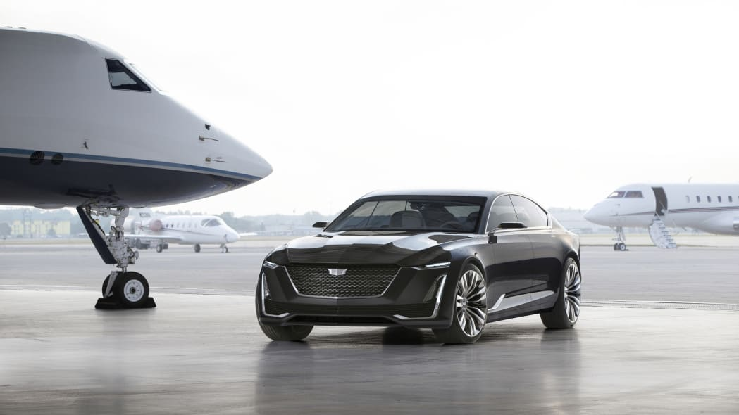 Cadillac Escala Concept with airplanes