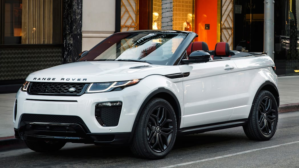 the range rover evoque convertible is absurd and strangely. Black Bedroom Furniture Sets. Home Design Ideas