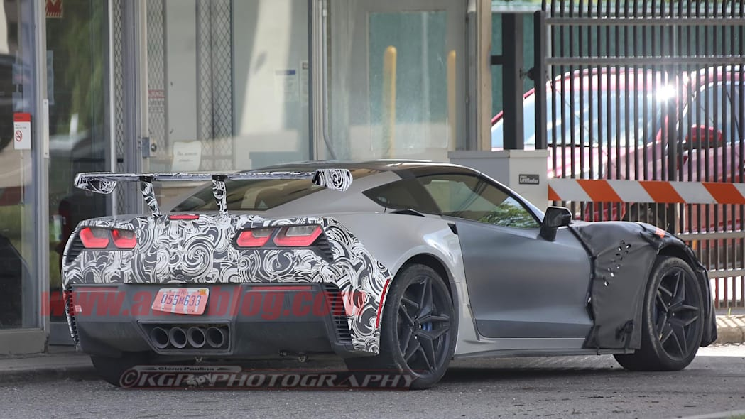 C7 Chevy Corvette ZR1 spy shot with wing