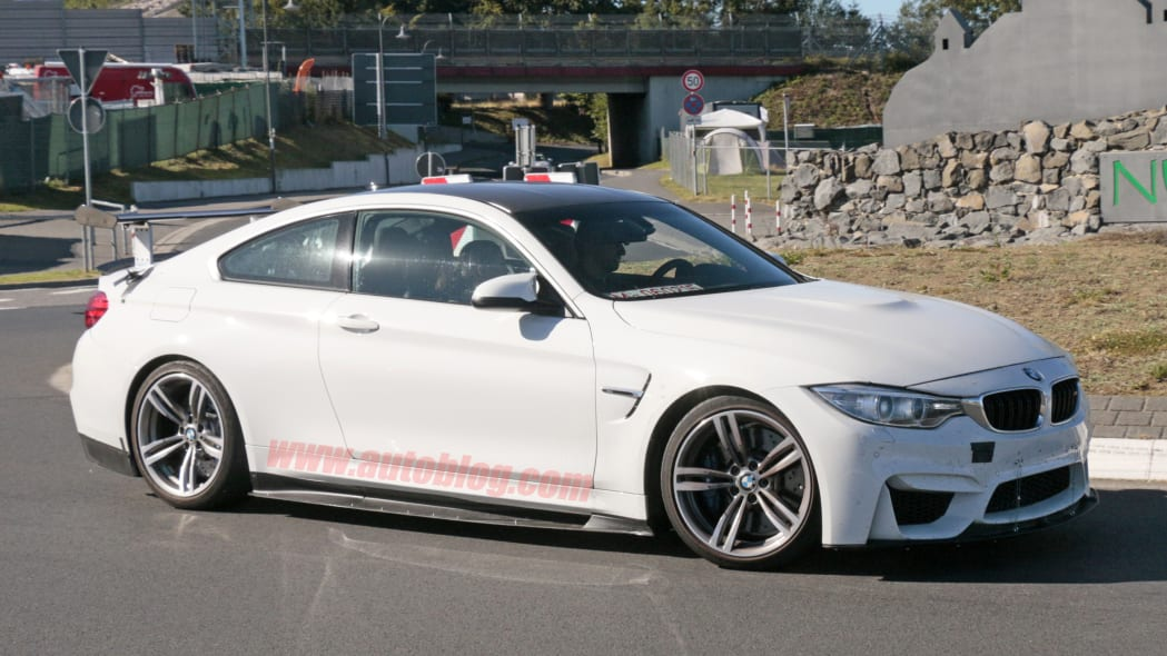 BMW M4 With Extreme Aero Spy Shots Side Exterior