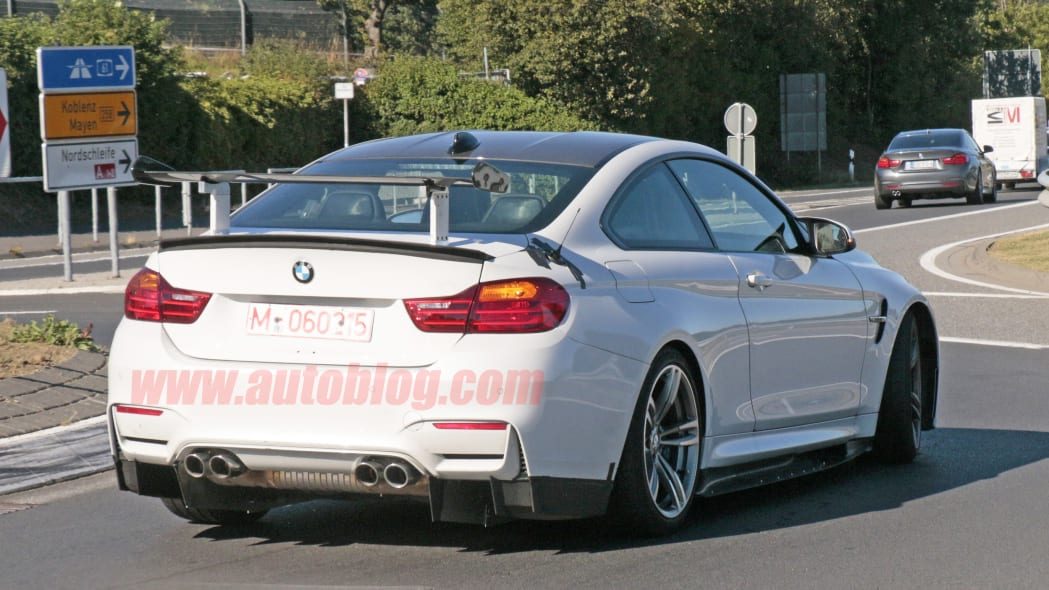 BMW M4 With Extreme Aero Spy Shots Rear Exterior