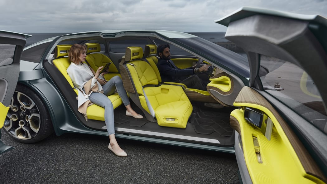 Citroen CXperience interior with people