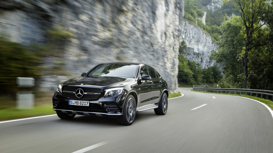 Mercedes-AMG GLC43 Coupe Front End Driving Exterior