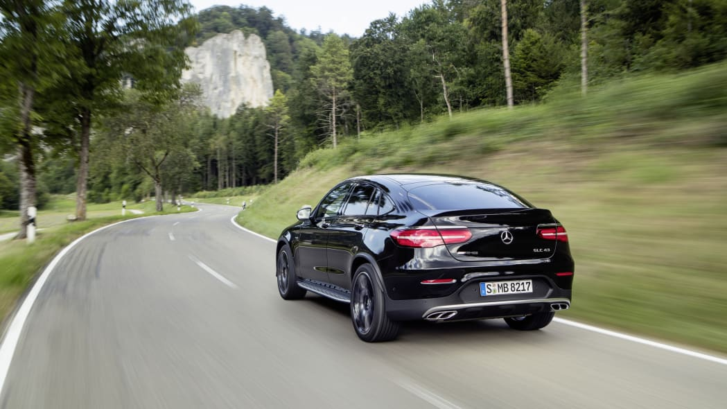 Mercedes-AMG GLC43 Coupe Driving Rear Exterior