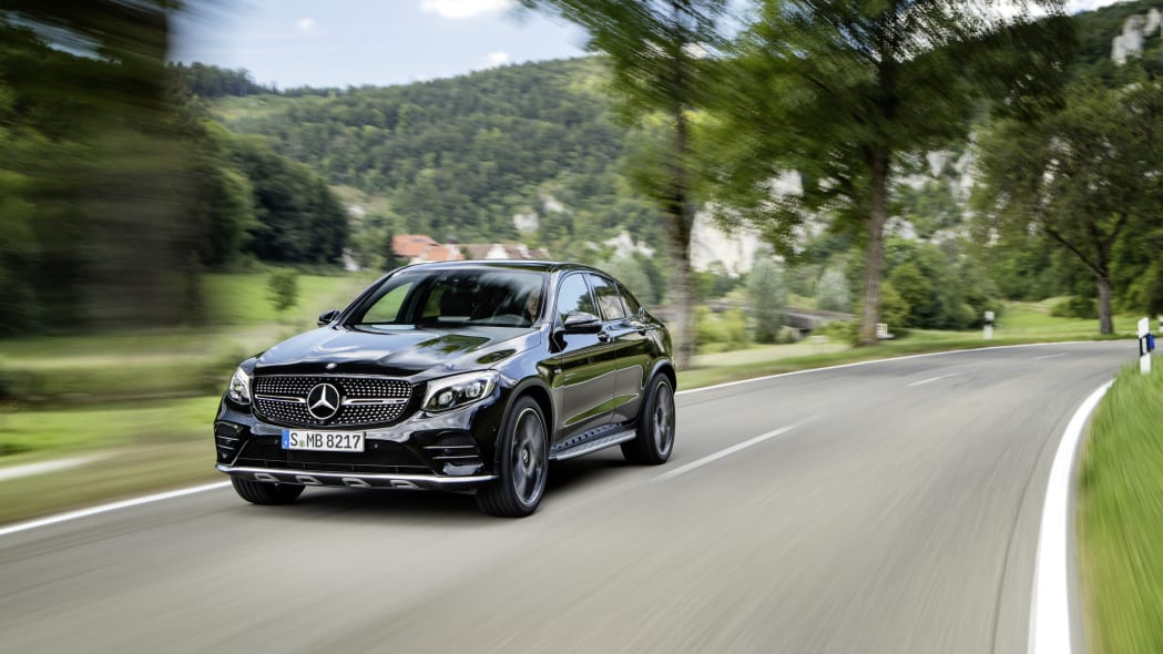 Mercedes-AMG GLC43 Coupe Driving Front End