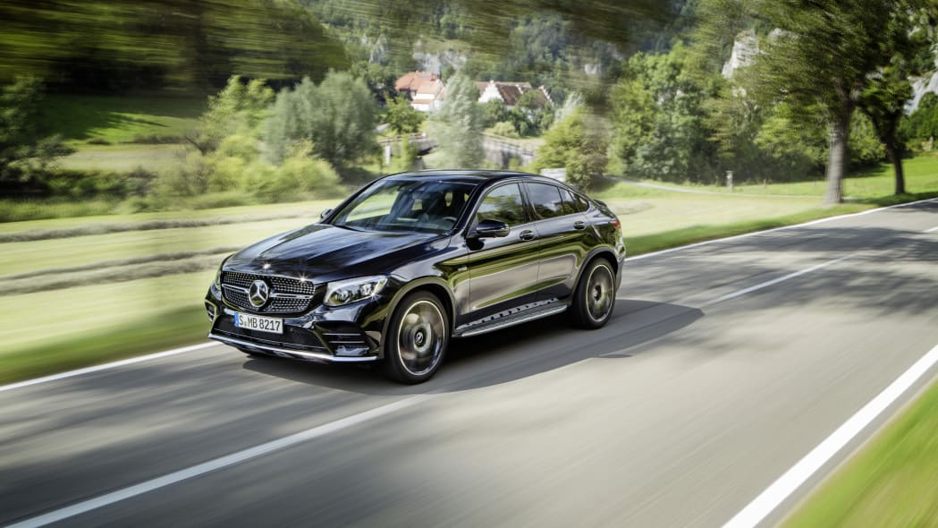 Mercedes-AMG GLC43 Coupe Driving Front End Exterior