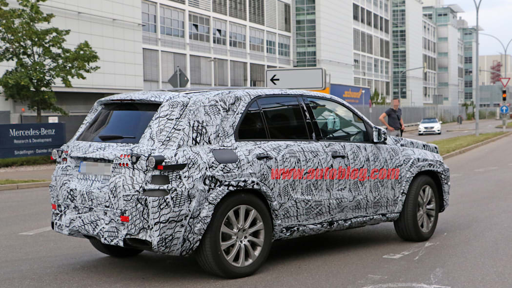 2018 mercedes benz gle spy photo rear taillights