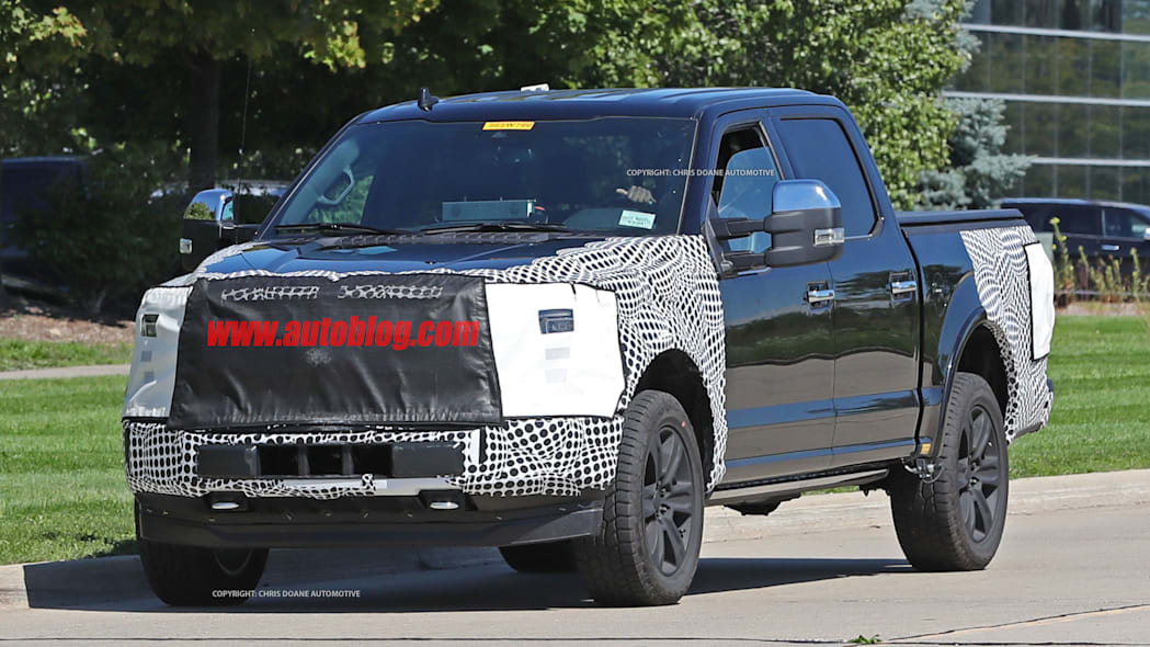 2018 ford f-150 spy photo grille