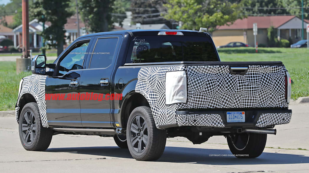 2018 ford f-150 spy photo four door tailgate