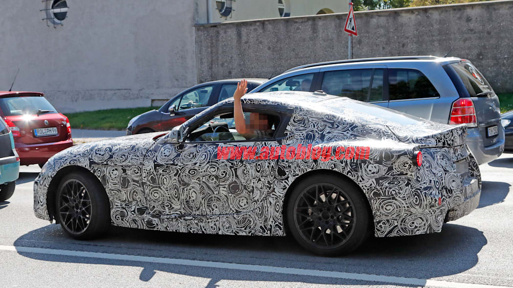 toyota supra spy picture side ft-1