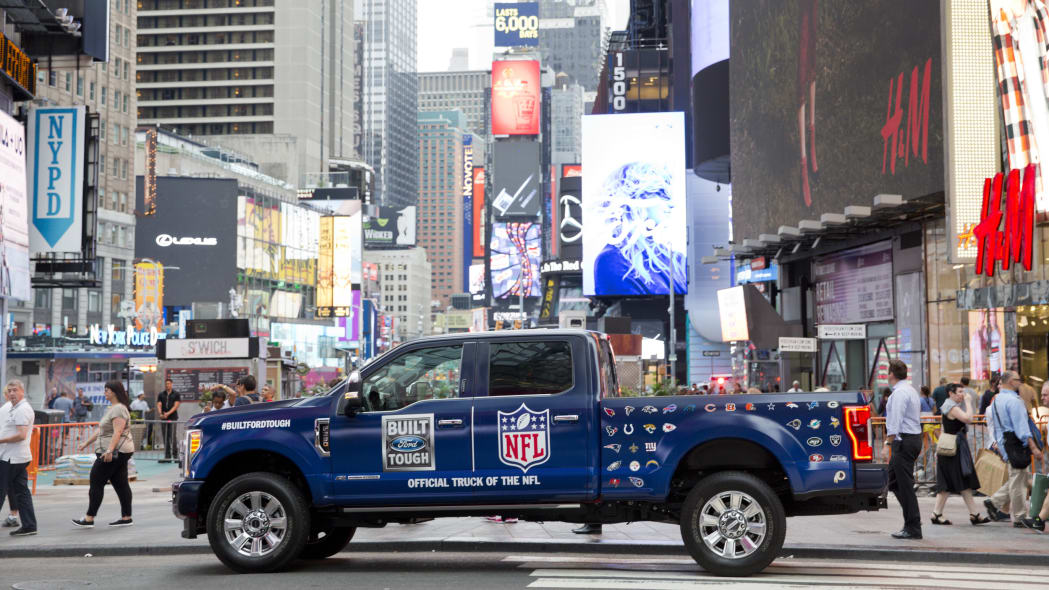 Ford F-Series NFL Sponsorship Times Square Side Exterior