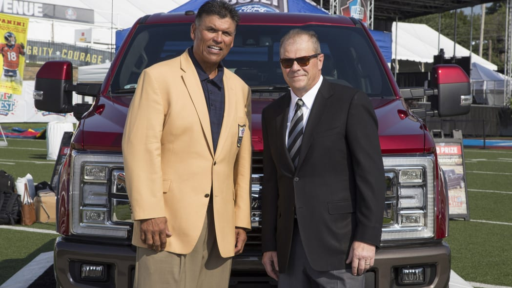 Ford F-Series NFL Sponsorship NFL Hall of Famer Anthony Munoz and Ford's Mark Laneve