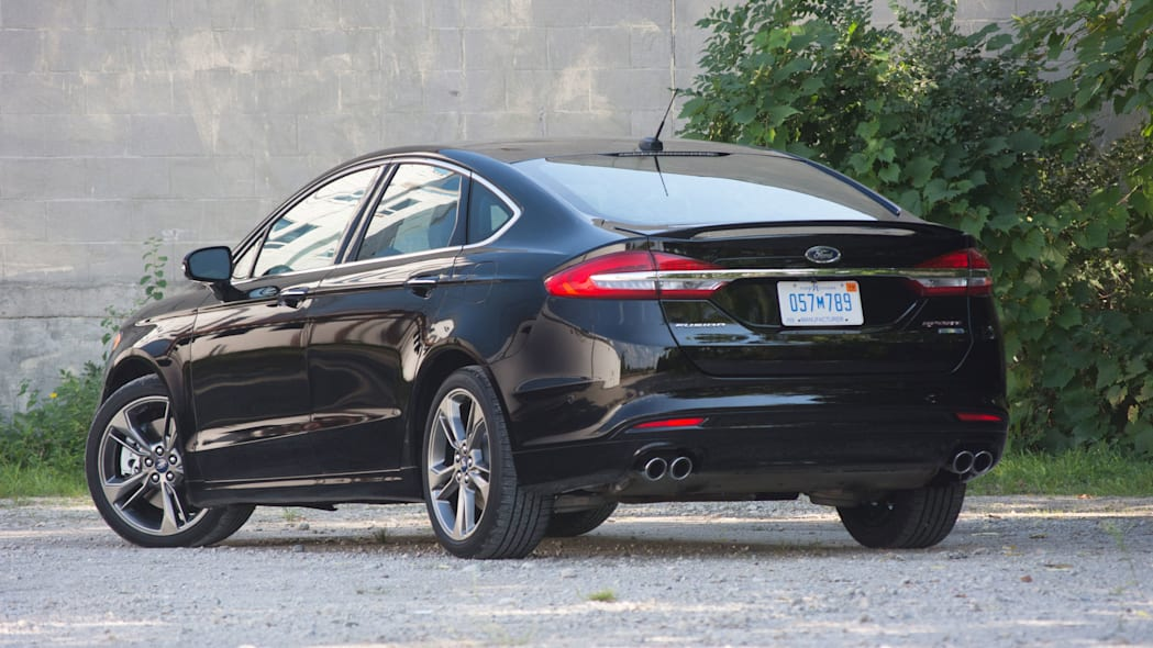 2017 ford fusion sport rear side