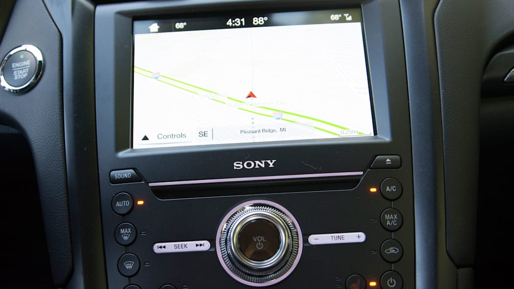 2017 ford fusion sport sony sync infotainment map