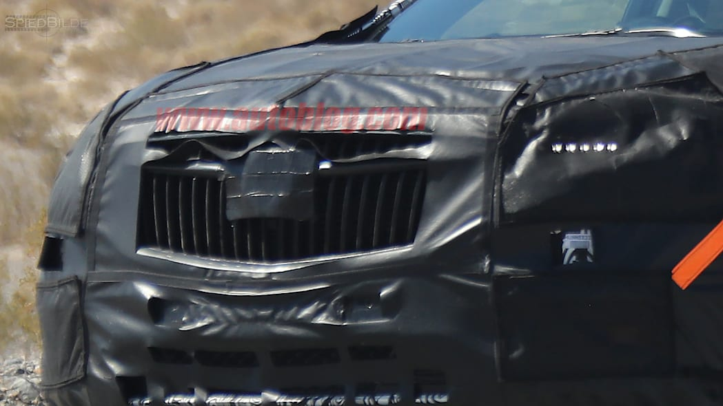 2018 Buick Enclave Spy Shots Grille Close Up Exterior