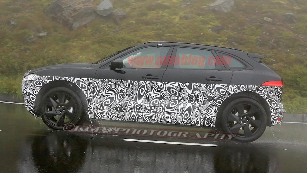 Jaguar X590 Electric SUV Spy Shots Side Exterior