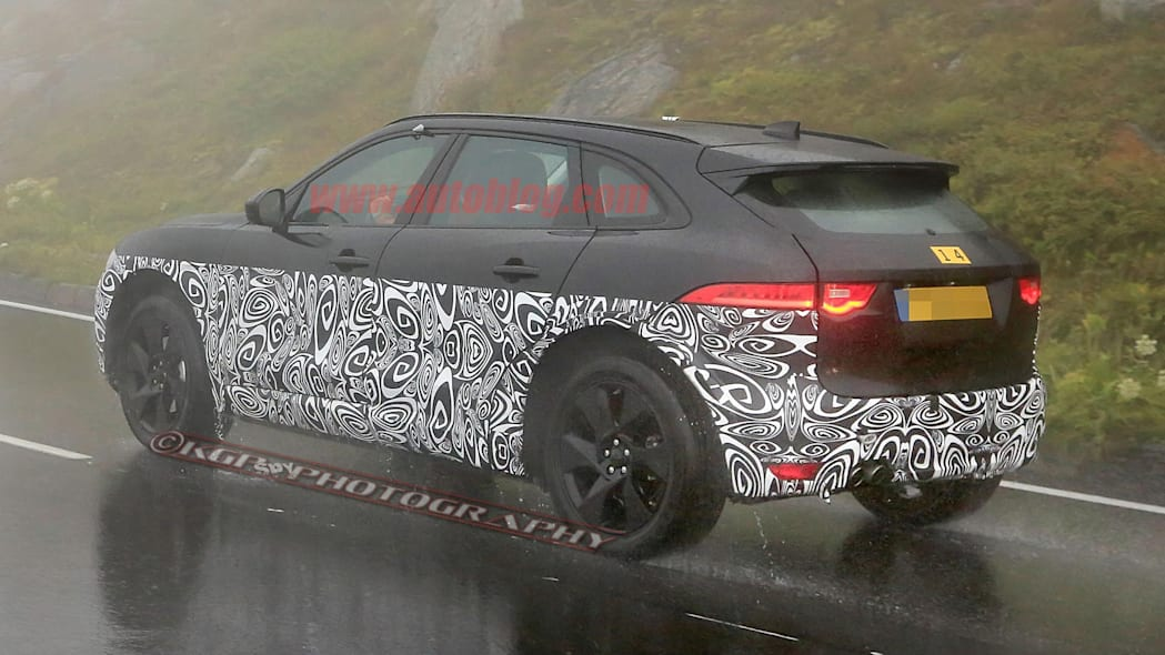 Jaguar X590 Electric SUV Spy Shots Three Quarter Rear