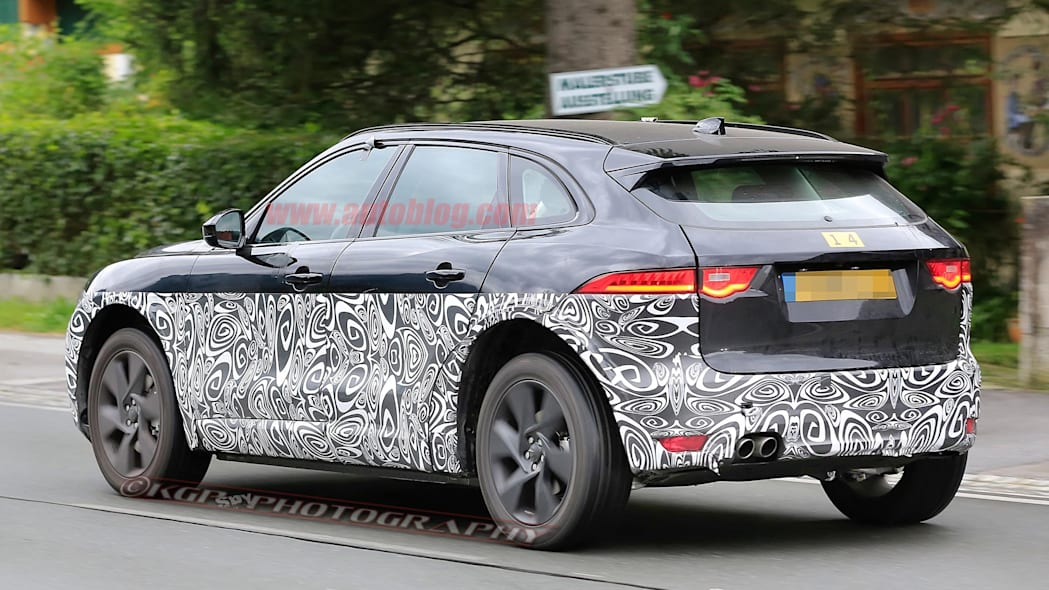 Jaguar X590 Electric SUV Spy Shots Three Quarter Rear Exterior