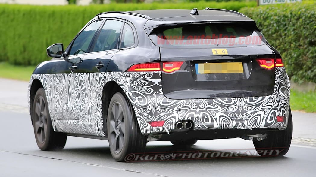 Jaguar X590 Electric SUV Spy Shots Rear Exterior