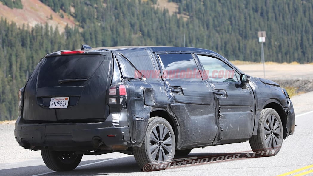 2019 Subaru Three-Row SUV Three Quarter Rear End Exterior