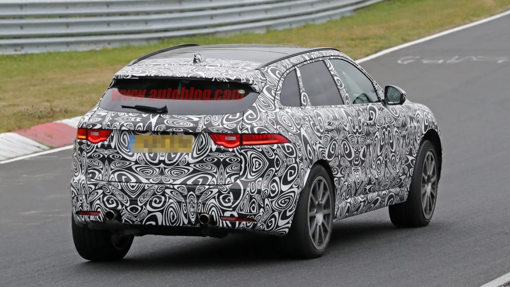 2019 Jaguar F-Pace R rear right 3/4