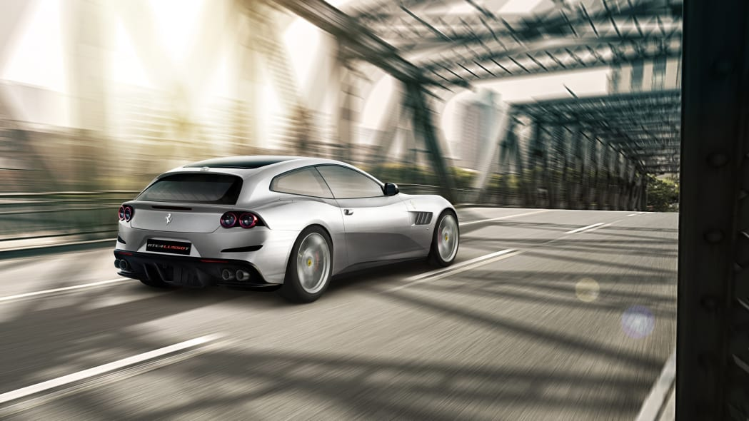 2017 Ferrari GTC4Lusso T Three Quarter Rear Exterior