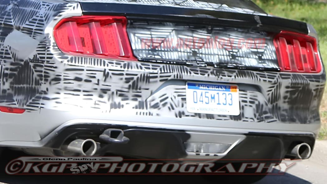 2018 Ford Mustang prototype rear