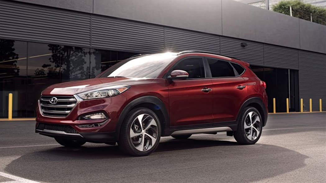 Hyundai Tucson crossover in red
