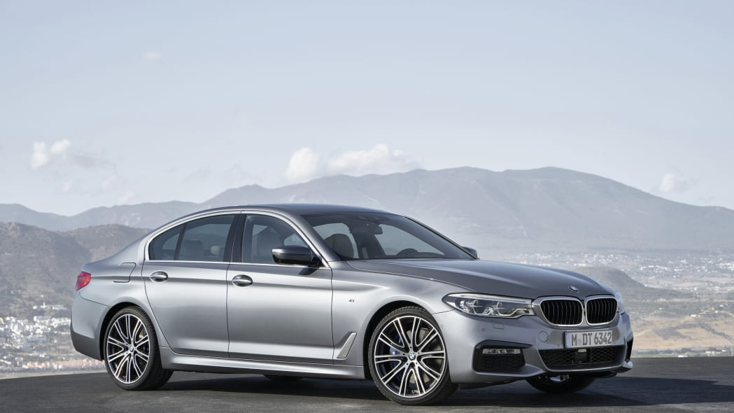 2017 BMW 5 Series front 3/4