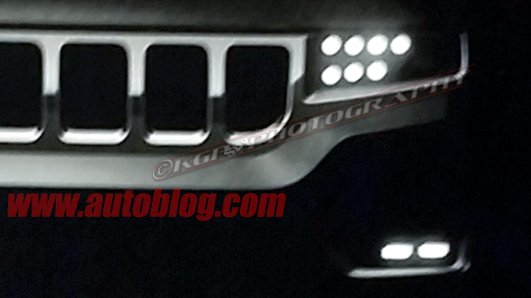 2019 Jeep Wagoneer Dealer Leak Spy Shots Front End Close Up