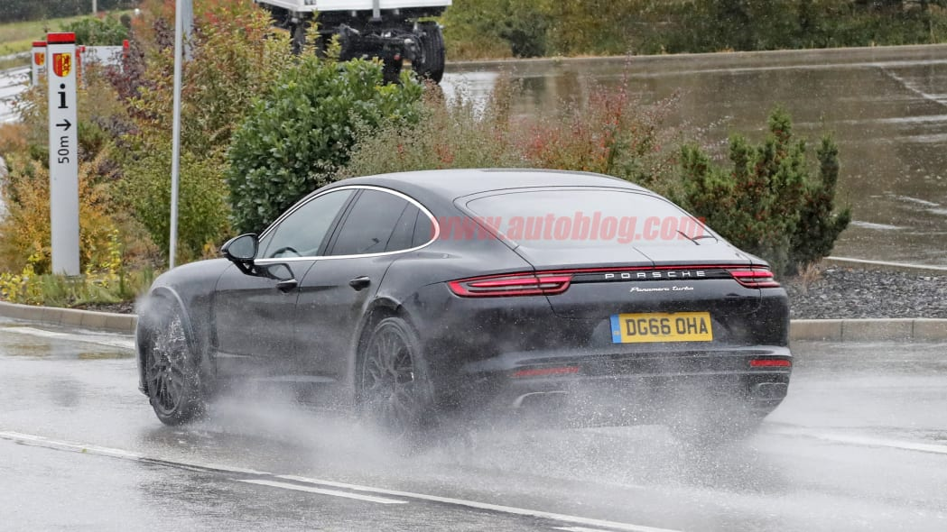 Bentley Flying Spur Spy Shots Rear End Exterior