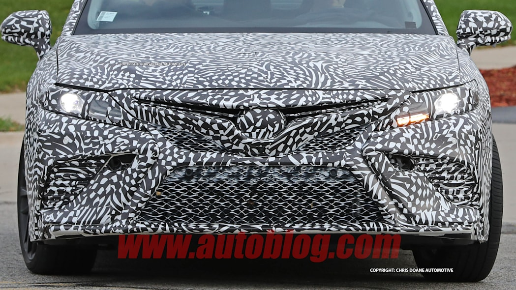 2018 Toyota Camry Spy Shots Front End Close Up Exterior