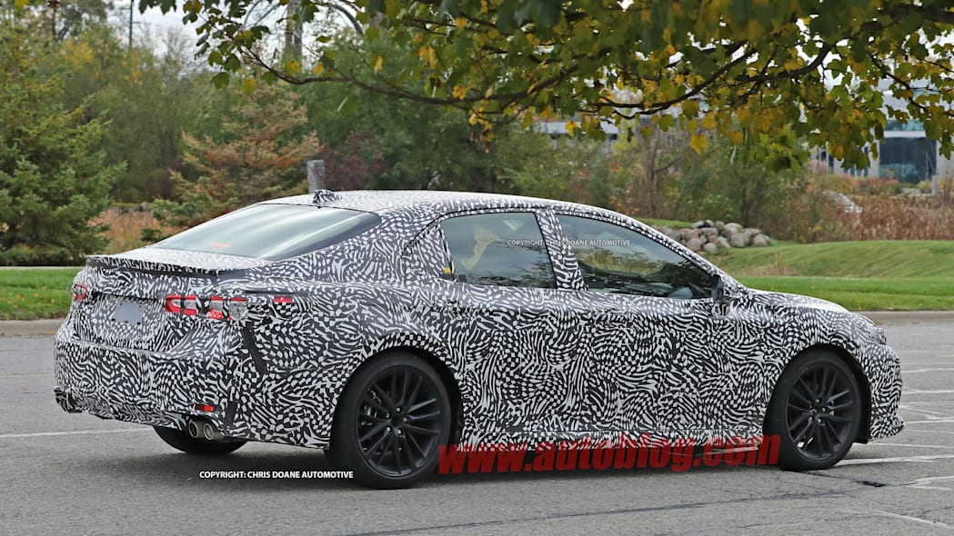 2018 Toyota Camry Spy Shots Side Exterior