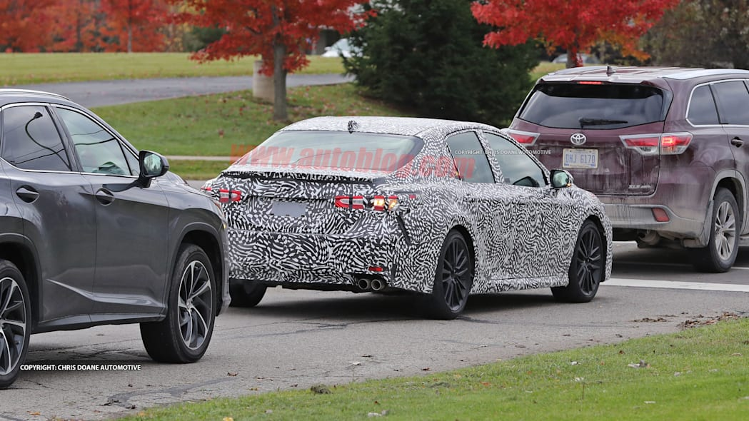 2018 Toyota Camry Spy Shots Rear End Exterior