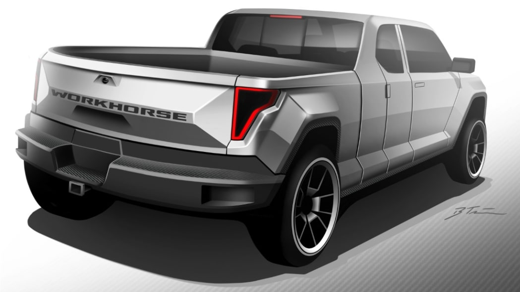 Workhorse W-15 Electric Pickup Truck Rear End Exterior